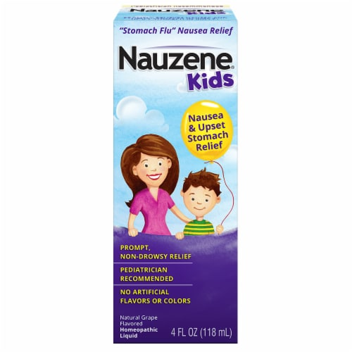 Nauzene Kids Grape Upset Stomach Relief Liquid Perspective: front