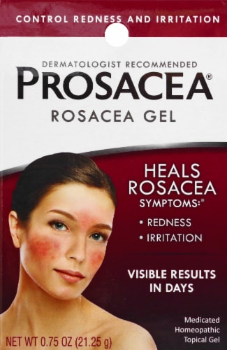 Prosacea Medicated Rosacea Homeopathic Topical Gel Perspective: front