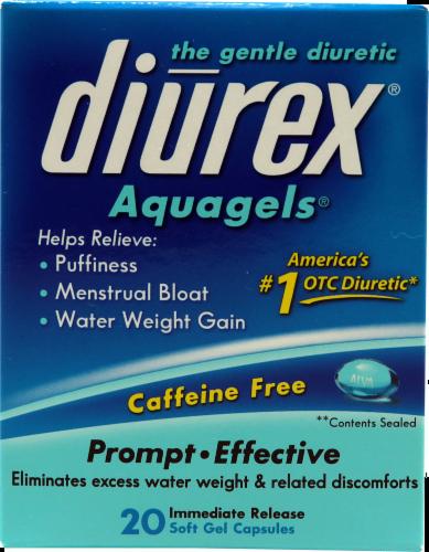 Diurex Aquagels Soft Gel Capsules Perspective: front