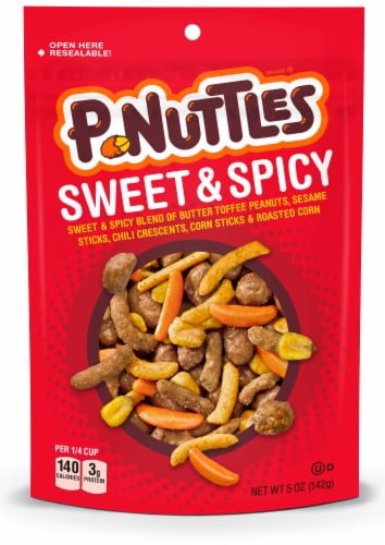 Adams & Brooks P-Nuttles Sweet & Spicy Snack Mix Perspective: front
