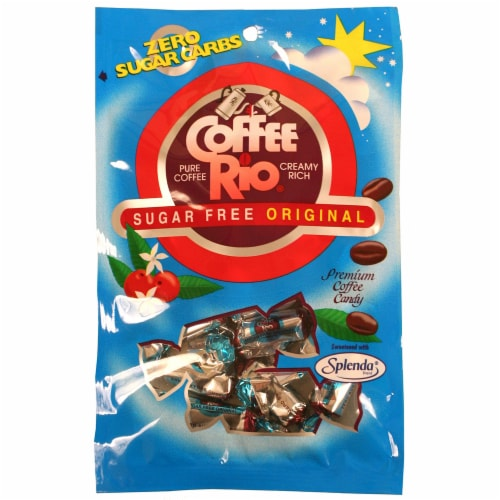 Adams & Brooks Coffee Rio Sugar Free Coffee Candy Perspective: front
