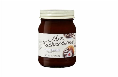 Mrs. Richardson's Hot Fudge Dessert Sauce Perspective: front