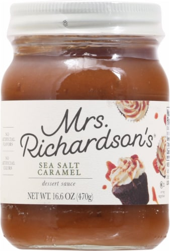 Mrs. Richardson's Sea Salt Caramel Dessert Sauce Perspective: front