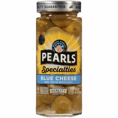 Pearls Specialties Blue Cheese Stuffed Queen Olives Perspective: front