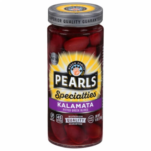 Pearls Specialties Pitted Kalamata Greek Olives Perspective: front