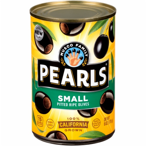 Pearls Small Pitted California Ripe Olives Perspective: front
