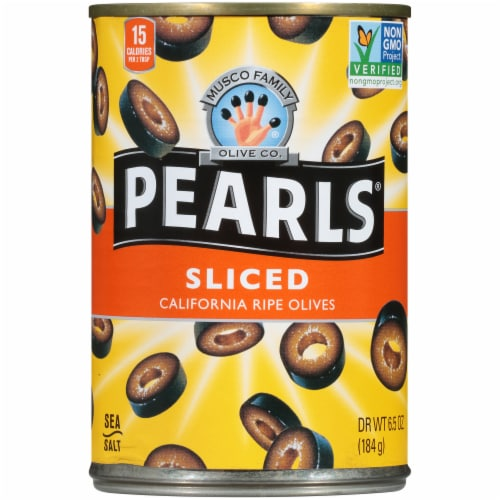 Pearls Sliced California Ripe Olives Perspective: front