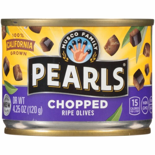 Pearls Chopped Black Ripe Olives Perspective: front