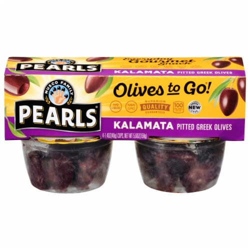 Pearls Pitted Kalamata Olives To Go Cups Perspective: front