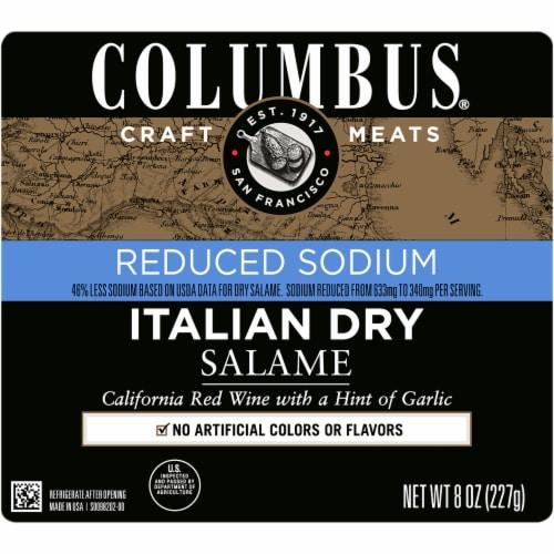 Columbus Low Sodium Salami Perspective: front