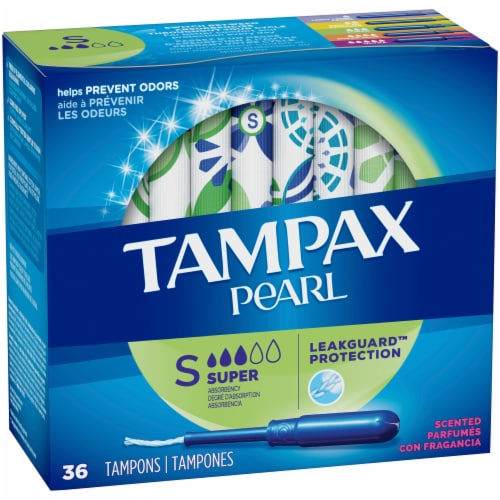 Tampax Pearl Scented Super Tampons Perspective: front