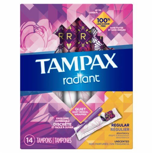 Tampax Radiant Regular Tampons Perspective: front