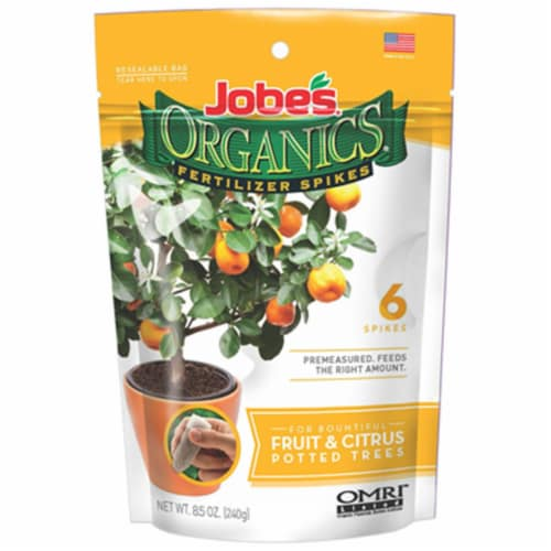 Easy Gardener 04226 Jobes Fruit & Citrus Organic Fertilizer Spike - 6 Pack Perspective: front