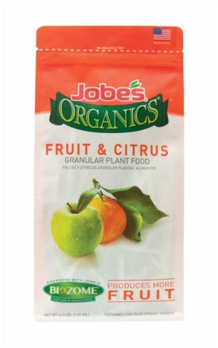 Jobes Organics 4 Lb. 3-5-3 Fruit & Citrus Dry Plant Food 09226 Perspective: front