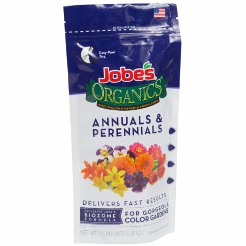 Jobes 09621 Organics Fertilizer Annuals & Perennials Plant Food  1.5 lbs Perspective: front