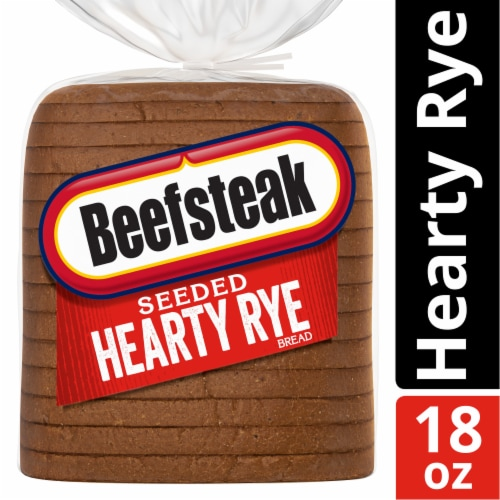 Beefsteak Seeded Hearty Rye Bread Perspective: front