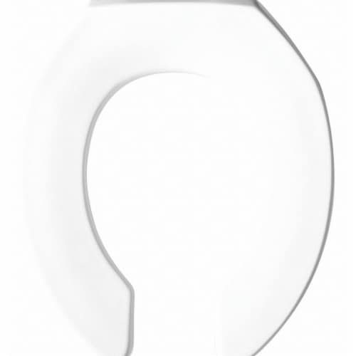 Bemis Toilet Seat,Round Bowl,Open Front,White  2055CT-000 Perspective: front