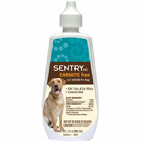 Sentry Dog Ear Miticide 3 oz. - Case Of: 1; Perspective: front
