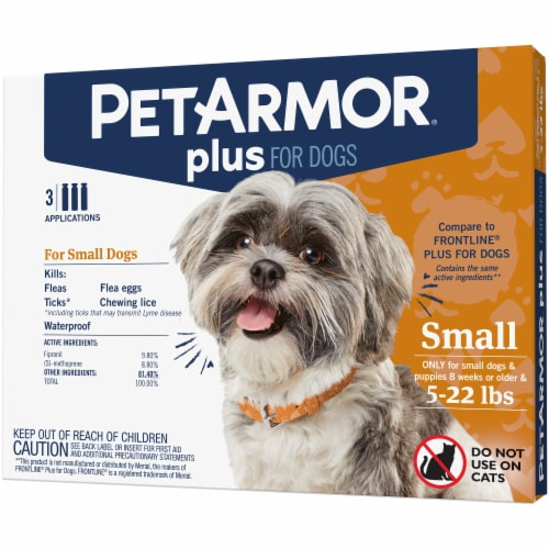 PetArmor Plus Small Dog Flea & Tick Squeeze-On Applications Perspective: front