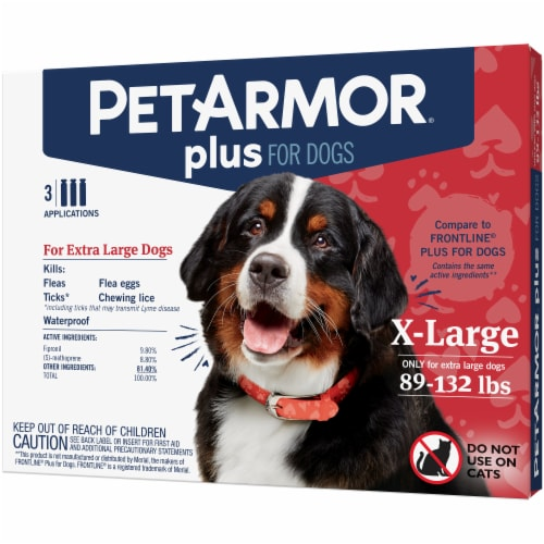 PetArmor Plus X-Large Dog Flea & Tick Squeeze-On Applications Perspective: front