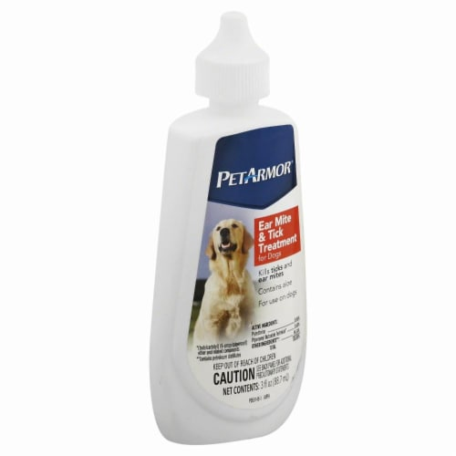 Pet Armor Ear Mite & Tick Treatment for Dogs Perspective: front