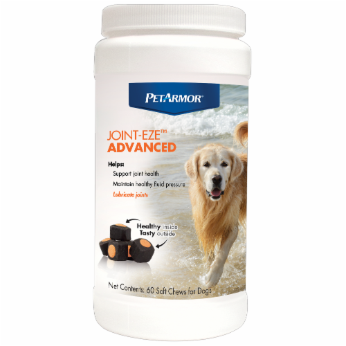 PetArmor Joint Eze Advanced Soft Chews 60 Count Perspective: front