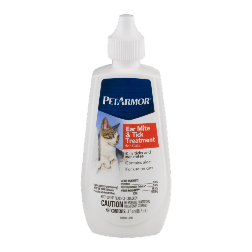PetArmor Ear Mite & Tick Treatment for Cats Perspective: front