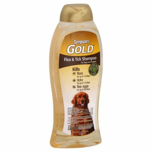 Sergeant's Gold Flea & Tick Dog Shampoo Perspective: front