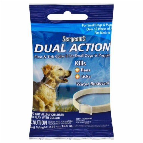 Sergeant's Dual Action Flea & Tick Collar for Puppies and Small Dogs Perspective: front