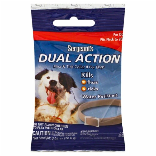 Sergeant's Dual Action Flea & Tick Collar For Dogs Perspective: front