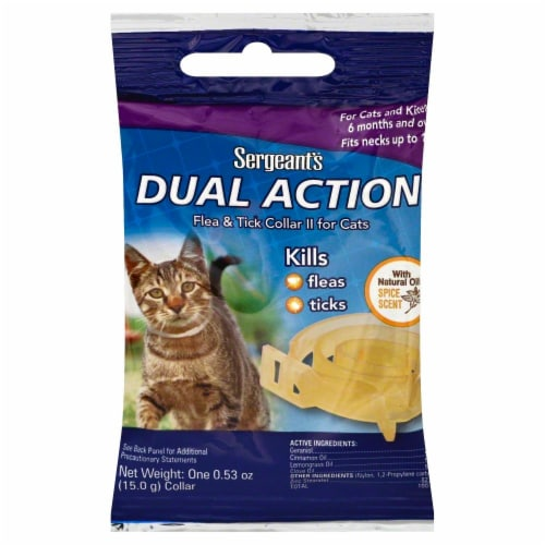 Sergeant's Dual Action Flea & Tick Collar For Cats Perspective: front
