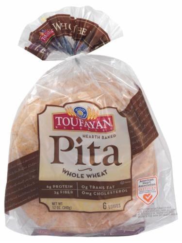 Toufayan Whole Wheat Pita Pitettes Perspective: front