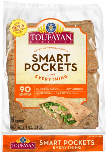 Toufayan Everything Smart Pockets 6 Count Perspective: front