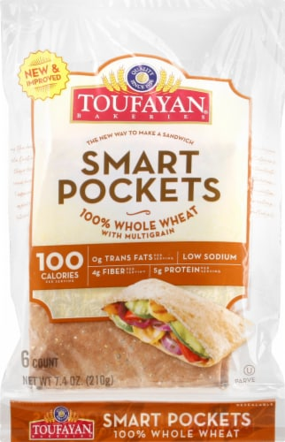 Toufayan Whole Wheat Smart Pockets Perspective: front