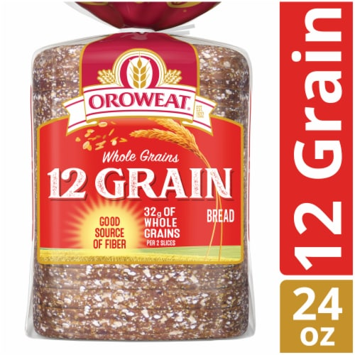 Oroweat Whole Grains 12 Grain Bread Perspective: front
