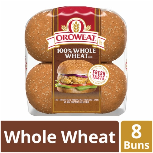 Oroweat Whole Wheat Sandwich Buns 8 Count Perspective: front