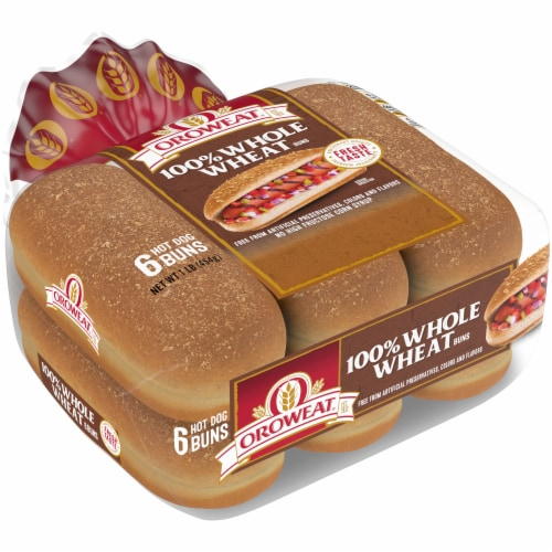 Oroweat Whole Grain Wheat Hot Dog Buns 6 Count 16 Oz Ralphs