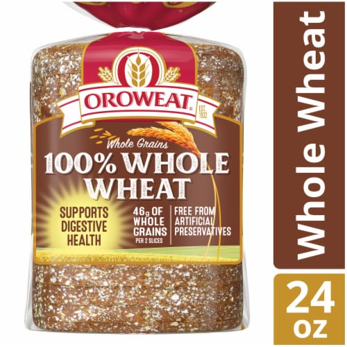 Oroweat Whole Grains 100% Whole Wheat Bread Perspective: front