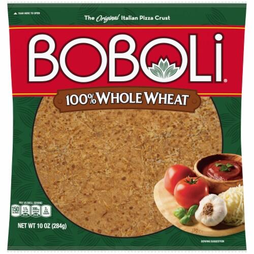 Boboli 100% Whole Wheat Pizza Crust Perspective: front