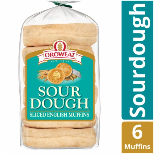 Oroweat Sour Dough English Muffins Perspective: front