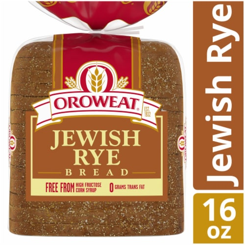 Oroweat Jewish Rye Bread Perspective: front