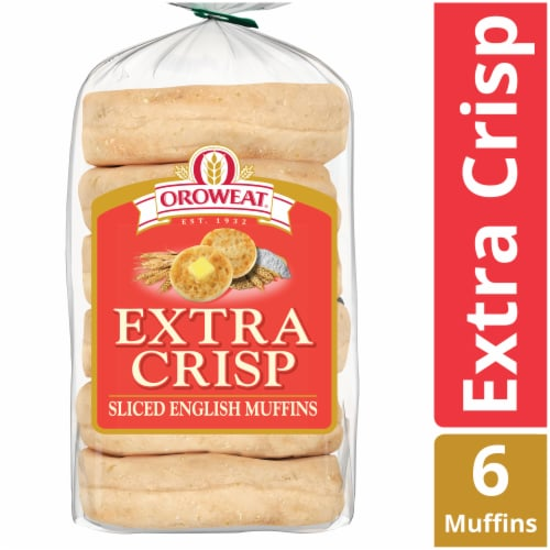 Oroweat® Extra Crisp English Muffins Perspective: front