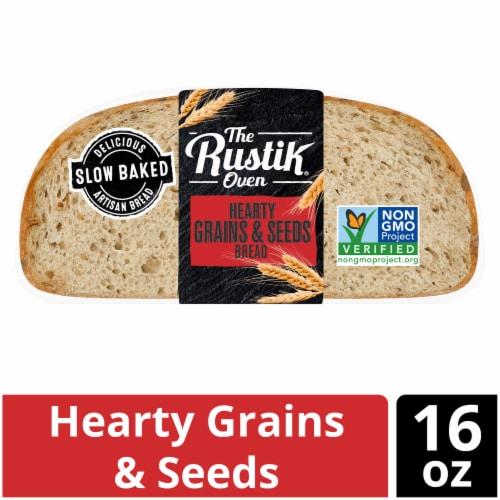 The Rustik Oven Hearty Grains & Seeds Bread Perspective: front