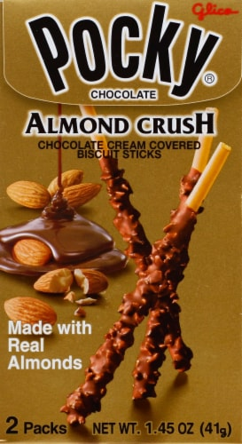 Pocky Almond Chocolate Crush Sticks Perspective: front