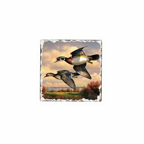 Counter Art CART15178 Game Birds Tumbled Tile Trivet Perspective: front