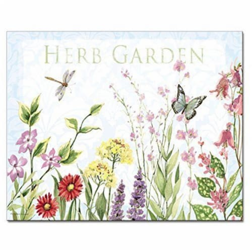 Counter Art CART22379 12 x 15 in. Herb Garden Glass Cutting Board Perspective: front