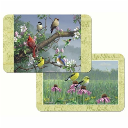 Counter Art CART49880 Beautiful Songbirds Reversible Plastic Placemat Perspective: front