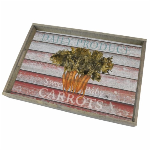 Counter Art CART80381 Wooden Tray Farm to Table Perspective: front