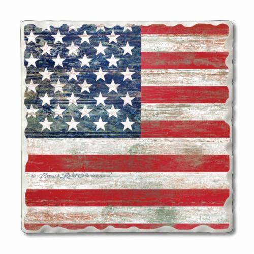 Conimar American Flag Coaster Perspective: front
