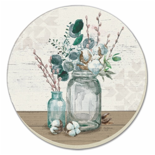 Conimar Cotton Bouquet Coasters Perspective: front